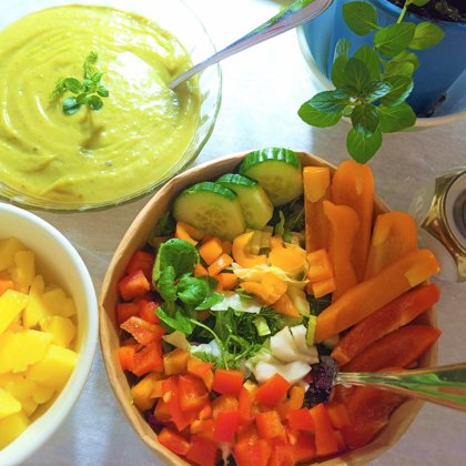 Smoothie , Soup und Salad